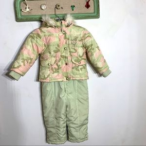 RothsChild Camo Mint snowsuit and jacket Toddler